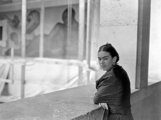 Frida Kahlo Overlooking Rivera Court (circa 1932, 1933)